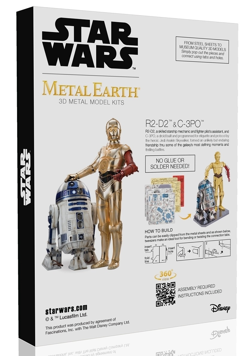 Metal Earth Star Wars: R2:D2 & C:3PO Gift Box Set - Model Kit image