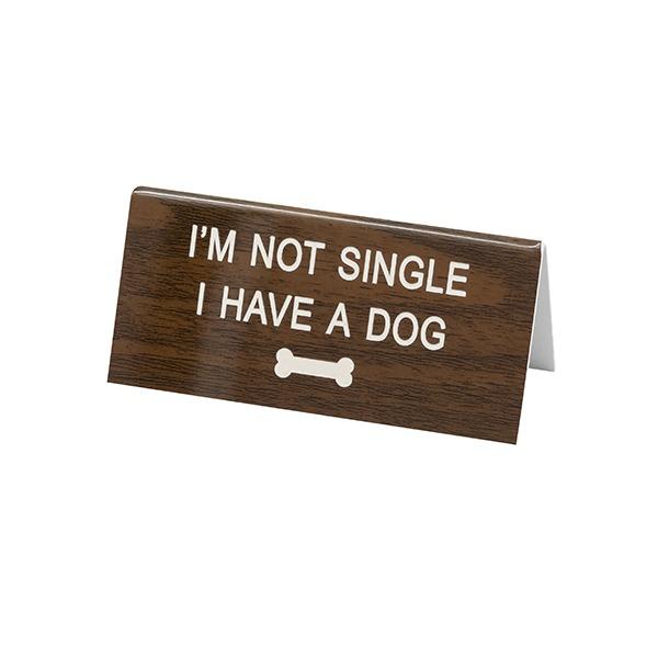 Desk Sign Small: Single