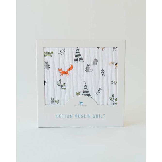 Little Unicorn - Cotton Muslin Quilt - Forest Friends image