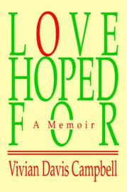 Love Hoped for: A Memoir by Vivian Davis Campbell image
