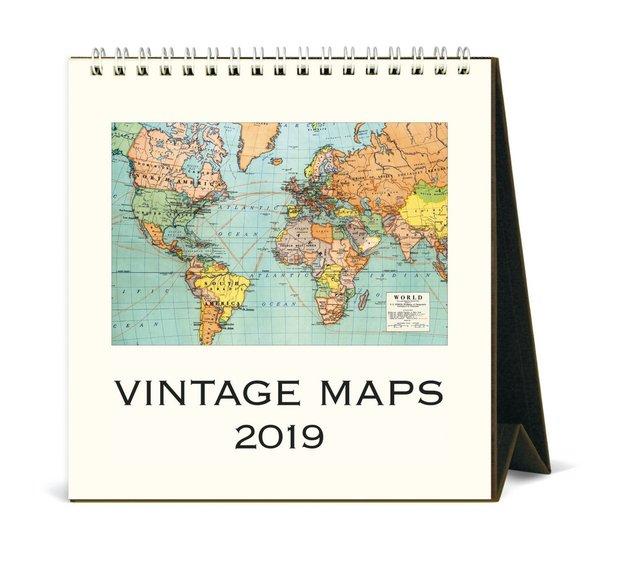 Buy Vintage Maps Desk Calendar At Mighty Ape NZ - Buy vintage maps