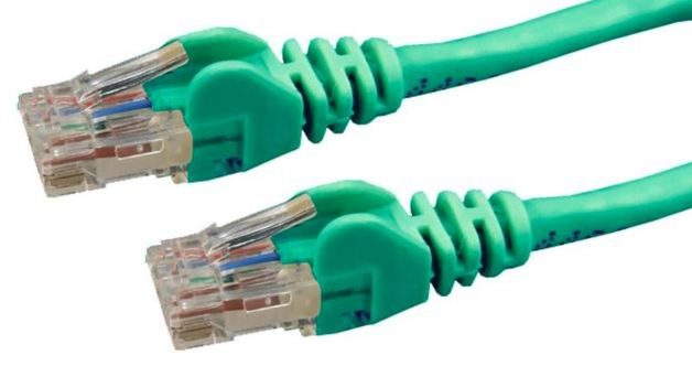 DYNAMIX Cat6 UTP Patch Lead (T568A Specification) 250MHz Slimline Snaggles Moulding - Green (5m)