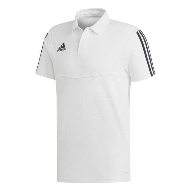 Adidas: Tiro 19 Cotton Polo - White/Black (XL)
