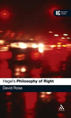 "Hegel's ""Philosophy of Right"" by David Rose"