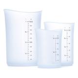 Flexible Silicon Measuring Jugs (Set of 3)