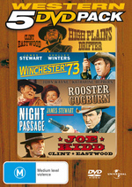 Western 5 DVD Pack (High Plains Drifter / Winchester '73 / Rooster Cogburn / Night Passage / Joe Kidd) (5 Disc Set) on DVD