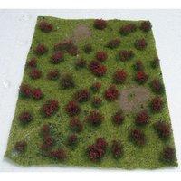 """JTT: HO Scale Flowering Meadow Sheet - Red (5"""" x 7"""")"""