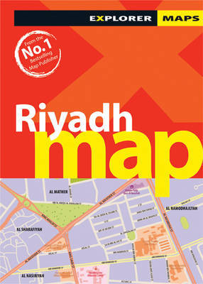 Riyadh Map by Explorer Publishing and Distribution