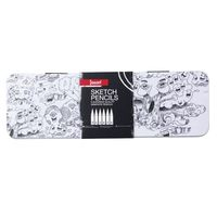 Jasart Sketch Pencil Tin - Set of 6