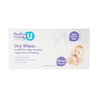 Baby U Dry Wipes (100 Wipes)