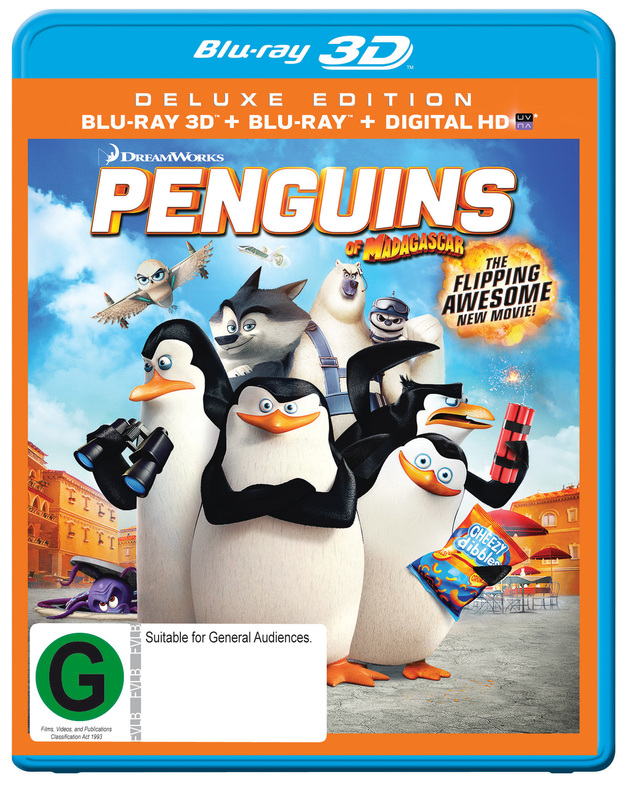 The Penguins Of Madagascar on Blu-ray, 3D Blu-ray