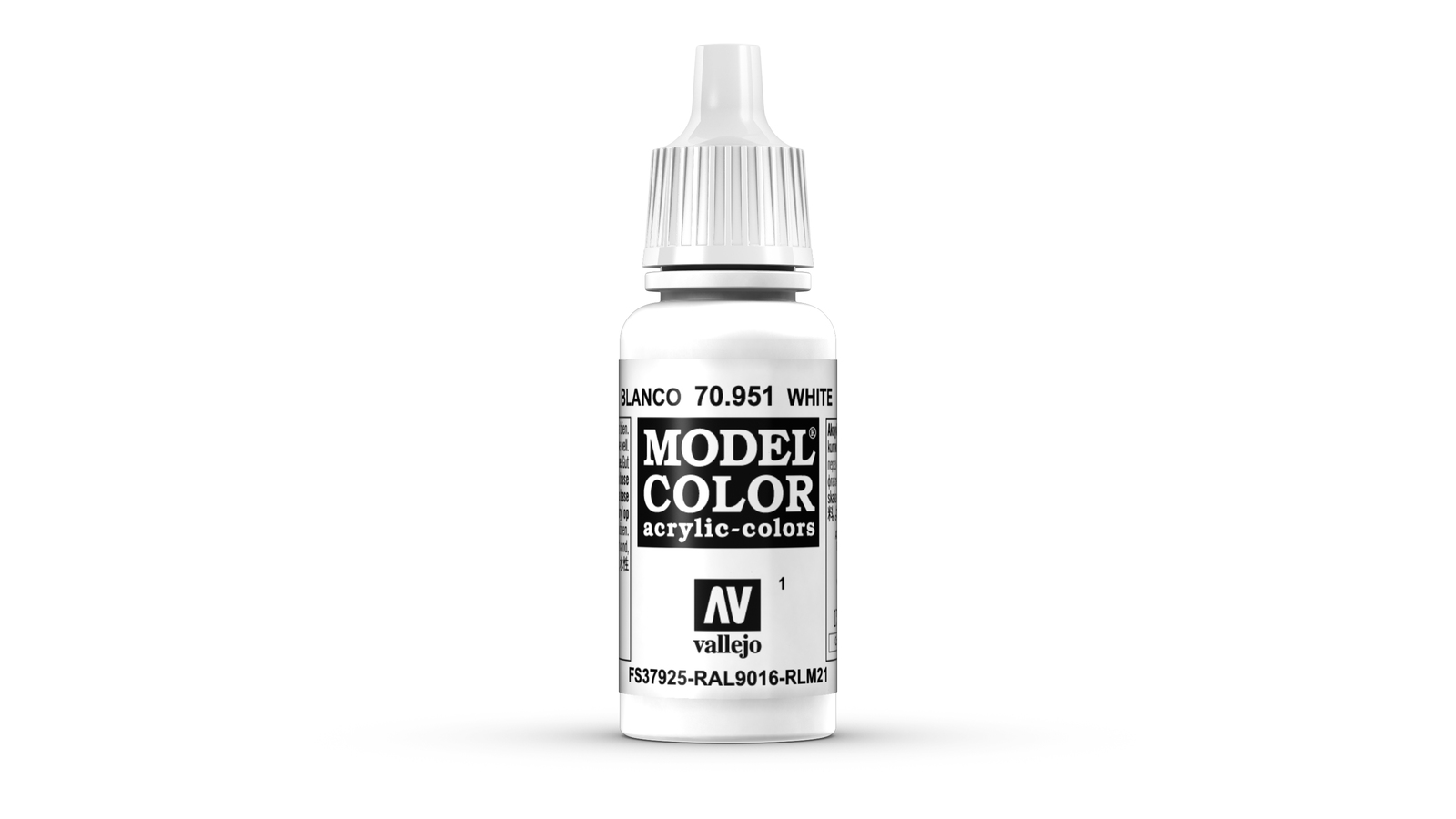 Vallejo Model Colour White Acrylic Paint 17ml image