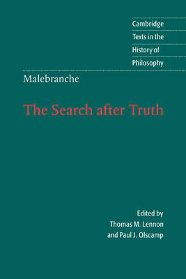 Malebranche: The Search after Truth by Nicolas Malebranche image