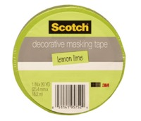 Scotch Masking Tape - 22mm (Lemon Lime)