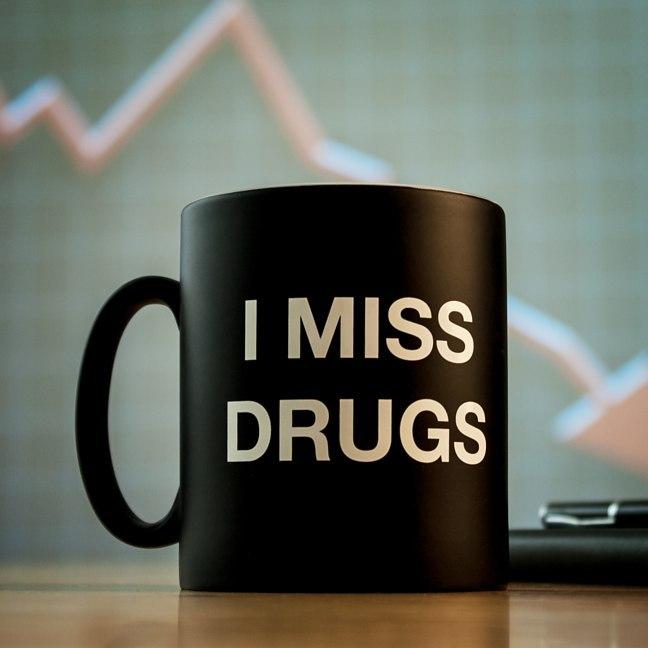 I Miss Drugs Mug image