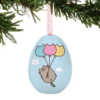 Pusheen: Tin Egg Ornament - Flying Away