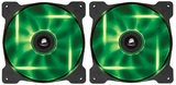 140mm Corsair SP140 LED Twin Pack - Green