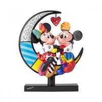 Romero Britto - Mickey & Minnie On Moon Figurine