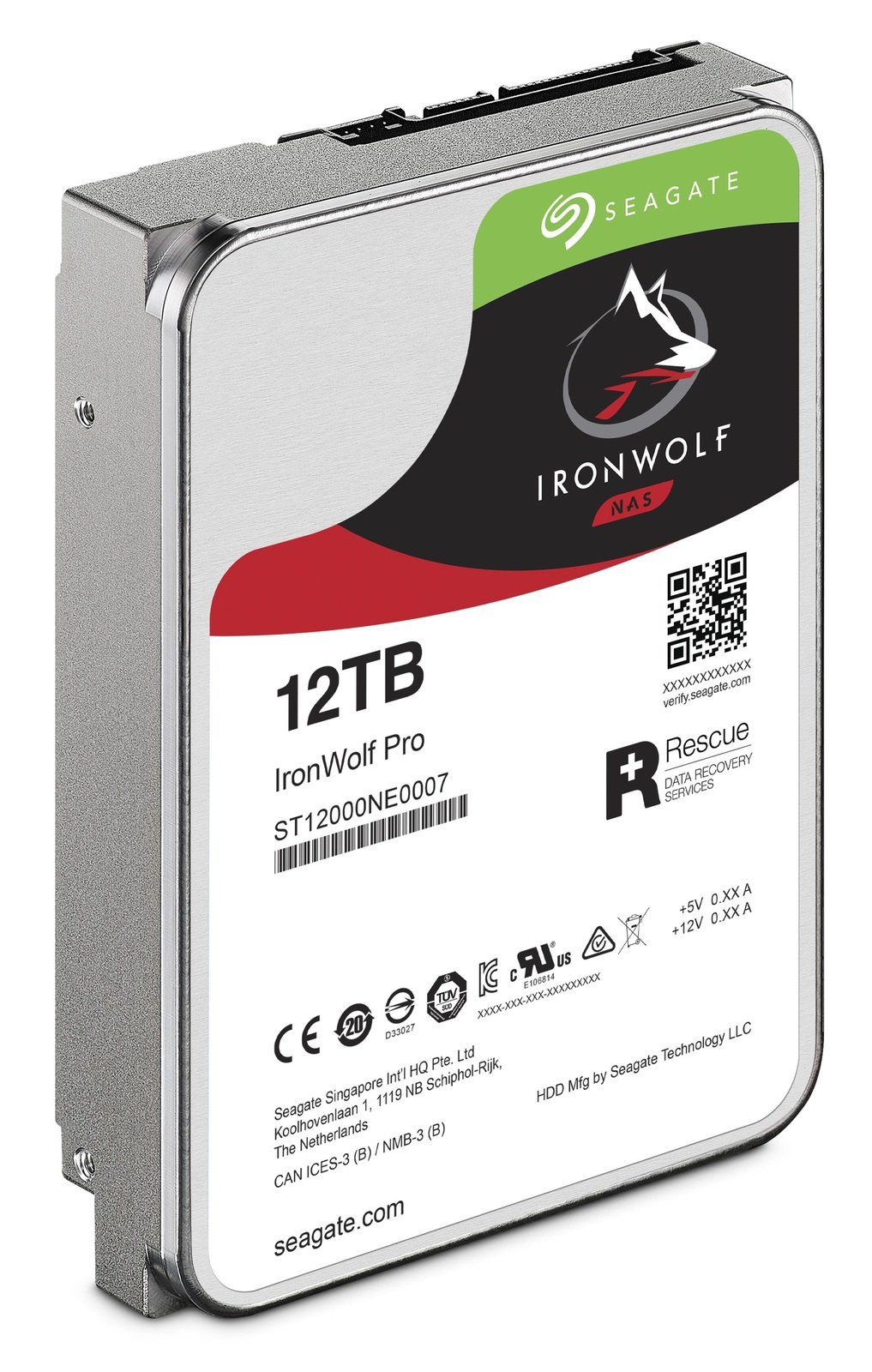 "12TB Seagate: IronWolf Pro [3.5"", 6Gb/s SATA, 7200RPM] - Internal NAS Hard Drive image"