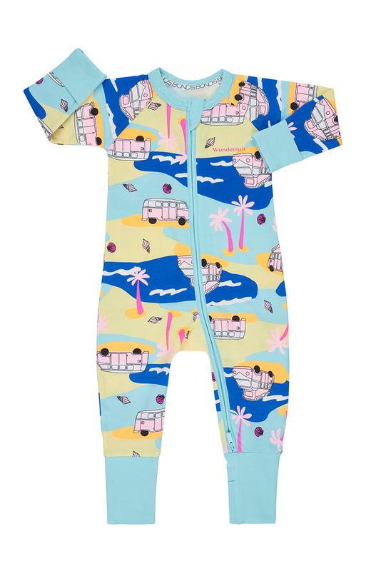 Bonds: Zip Wondersuit - Beach Safari (Newborn)