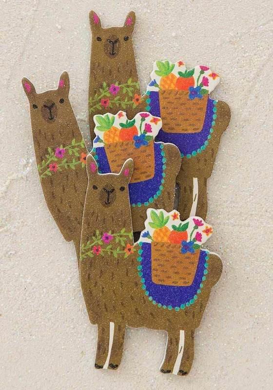 Natural Life: Emery Board Set of 3 - Llama