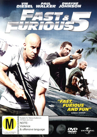 Fast & Furious 5 on DVD