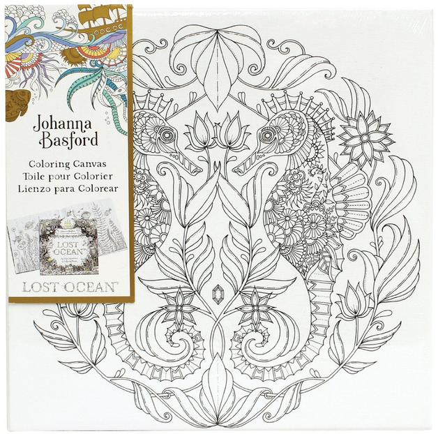 Buy Johanna Basford Canvas 12x12 Lost Ocean Seahorse At