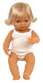 Miniland: Anatomically Correct Baby Doll - Caucasian Girl (38cm)