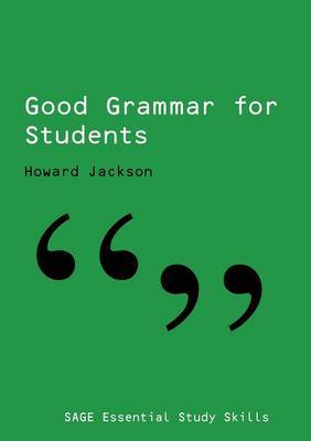 Good Grammar for Students by Howard Jackson image