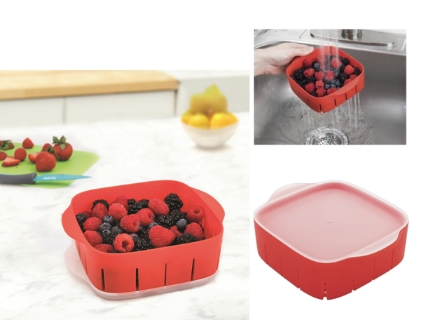Rinse 'N' Store Berry Colander