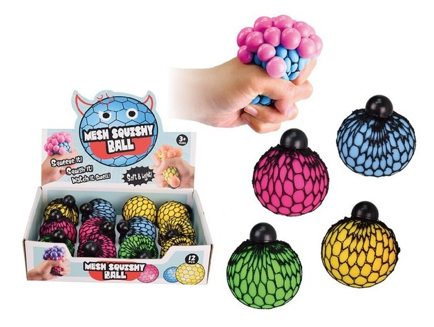 Fun Impulse: Mesh Squeeze Ball - 60mm (Assorted Designs)