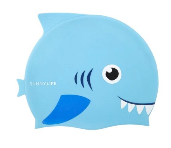 Sunnylife: Shaped Swimming Cap 3-9 - Shark image