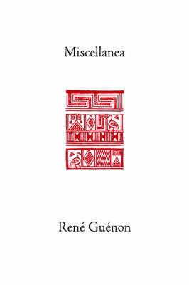 Miscellanea by Rene Guenon image