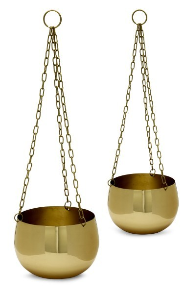 Me & My Trend Brass Hanging Planter - Set of 2 image