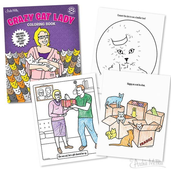 Crazy Cat Lady Colouring Book