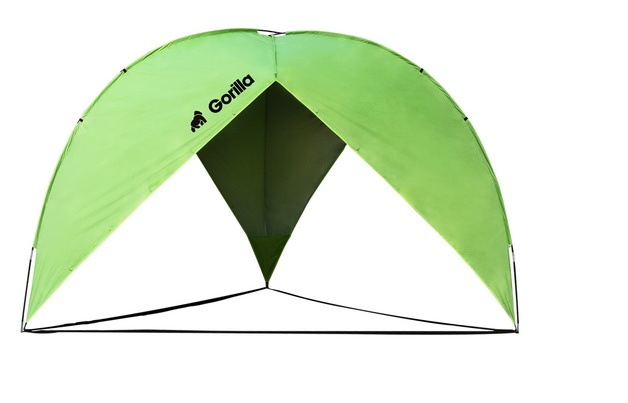 Triangle Beach & Sun Shade Shelter (380x380x230cm) | Green