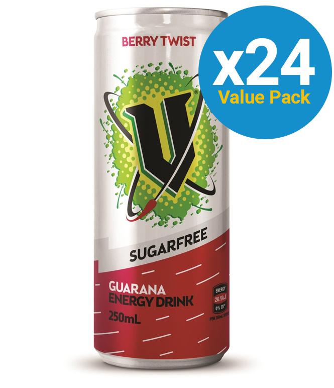 V Sugar Free - Berry Twist 250ml (24 Pack) image