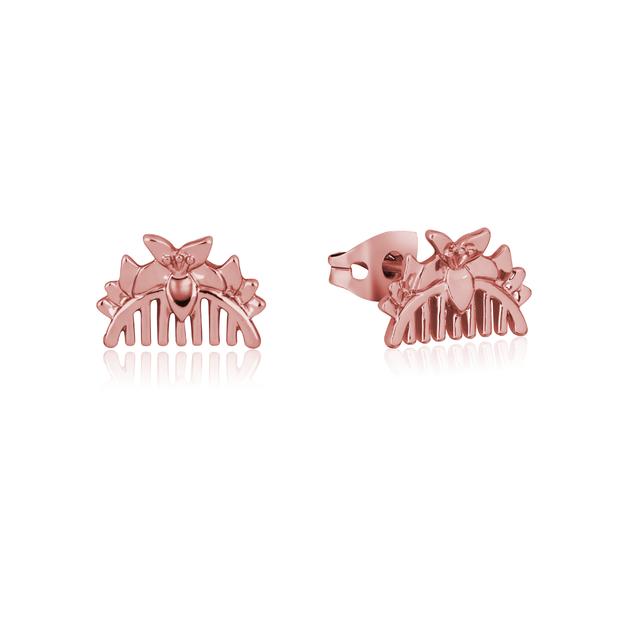 Couture Kingdom: Disney Mulan Comb Stud Earrings Rose Gold