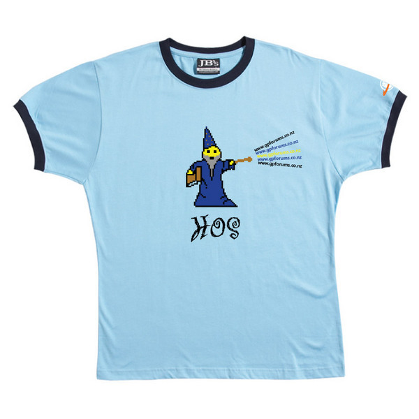 HOS - Ringer Tee (Sky Blue) for