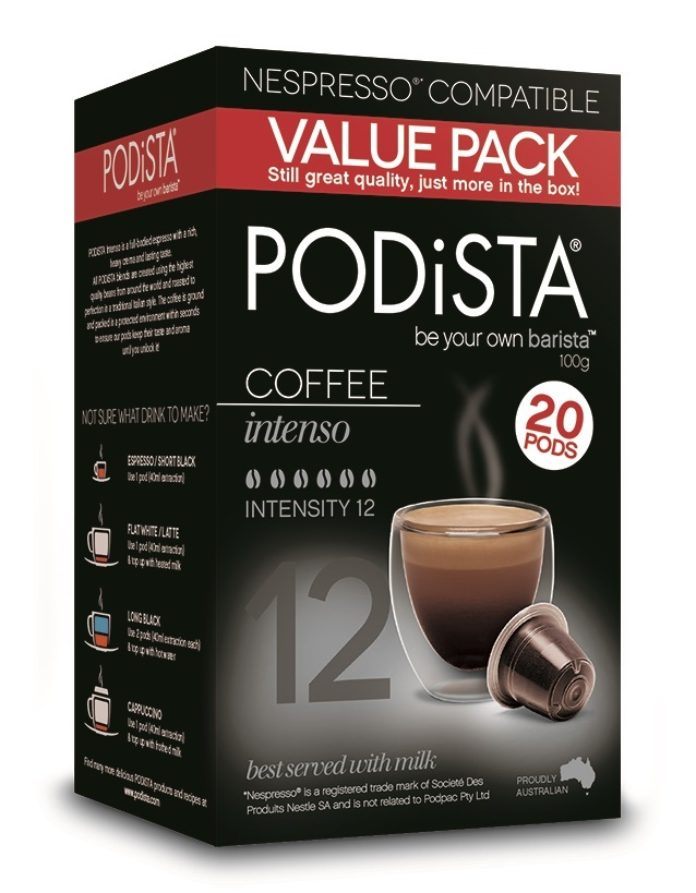 Podista Intenso Coffee Pods (20pk) image