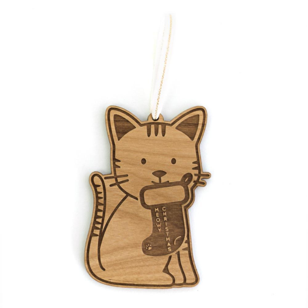 Cardtorial Christmas Ornament - Meow-Y Christmas image