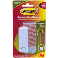 Command Wire Backed Picture Hanger - White (Single)