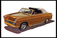 AMT: 1/25 1950 Ford Convertible - Model Kit