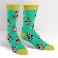 Mens - Monkeying Around Crew Socks