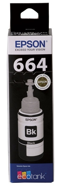 Epson T664 EcoTank Ink Bottle (Black)