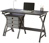 Brenton X Cross Desk & Filing Unit - Black