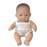 Miniland: Anatomically Correct Baby Doll - Asian Girl (21cm)