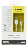 Pudney: USB A Plug To Micro USB Plug 0.5 Metre - White