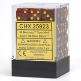 Chessex Signature 12mm D6 Dice Block: Mercury Speckled