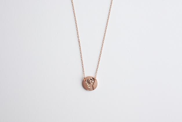 Stilen: Antler rose necklace